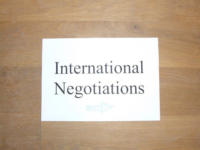 international negotiations International negotiations are not the same as those in the american business culture most overseas cultures expect more structure in negotiations—introductions of the negotiation teams, an agenda, a spokesperson for each team, etc.